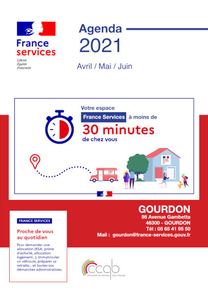France services, Agenda 2021 Avril / Mai / Juin